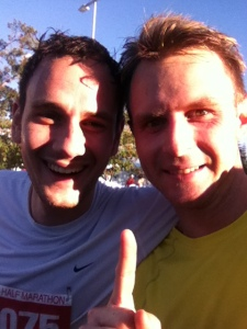 Me and my buddy Mark completing the Gold Coast Half Marathon in 2011