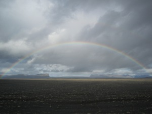 A rainbow after the rain in Iceland last year