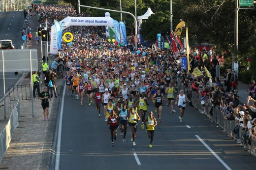 Me, one of 6000 people to start the Gold Coast Marathon